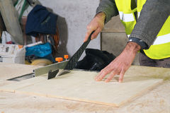 Joiner in the workshop Royalty Free Stock Photo