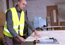 Joiner in the workshop Stock Image