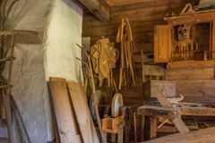 Farm and Winter Sports Museum, Schliersee, Bavaria. Joinery in the artisan house - Handwerkerhaus in the Markus Wasmeier Farm and Winter Sports Museum Stock Photography