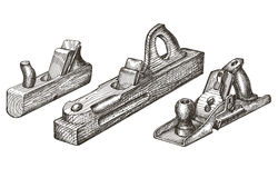 Joinery. retro tools on a white background. sketch Stock Images