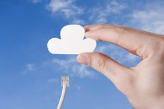 Joining Cloud Stock Image