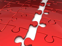 Joining puzzle business concept Stock Photo