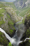 Joining waterfalls Stock Photo