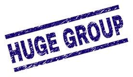 Joint ÉNORME texturisé de timbre de GROUPE de grunge illustration de vecteur