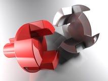 Joint axial mécanique - rendu 3D illustration de vecteur