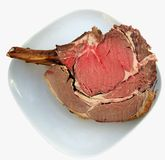 Joint of Beef. Carved joint of beef showing natural fat Royalty Free Stock Photo