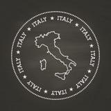 Joint blanc de vintage de texture de craie avec l'Italien illustration libre de droits