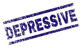 Joint DÉPRESSIF texturisé de timbre de grunge illustration libre de droits