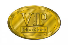 Joint d'or de membre de VIP Photos libres de droits
