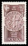 Joint d'Opole, serie du 13ème siècle et récupéré de territoires, vers 1961 image stock