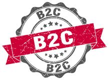 joint de b2c estampille illustration stock