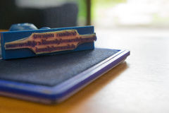Joint de cartouches de timbre et d'encre d'équipement de bureau Photo stock