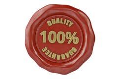 Joint de cire avec la garantie de qualité d'inscription illustration 3D Image libre de droits