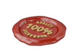 Joint de cire avec la garantie de qualité d'inscription illustration 3D Photo stock