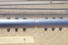 Joint de connexion de tuyau d'acier et de tube inoxydables dans fectory Photo stock