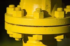 Joint de pipe industriel images stock
