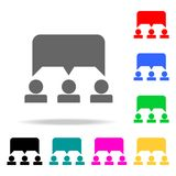 Joint discussion icon. Elements of teamwork multi colored icons. Premium quality graphic design icon. Simple icon for websites, we. B design, mobile app, info Royalty Free Stock Photos