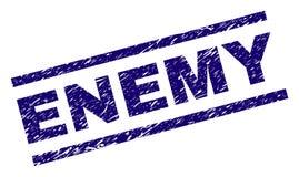 Joint ENNEMI texturisé de timbre de grunge illustration de vecteur