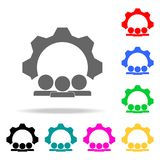 Joint idea engine icon. Elements of teamwork multi colored icons. Premium quality graphic design icon. Simple icon for websites, w. Eb design, mobile app, info Stock Photos
