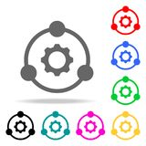 Joint idea engine icon. Elements of teamwork multi colored icons. Premium quality graphic design icon. Simple icon for websites, w. Eb design, mobile app, info Stock Images