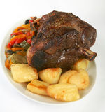 Joint of lamb stock photo