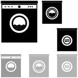 Joint noir et gris de fond blanc Photographie stock