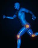 Joint pain management. Illustration of joint pain management Stock Images