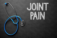 Joint Pain - Text on Chalkboard. 3D Illustration. royalty free stock image