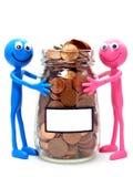 joint pengarbesparingar för begrepp Royaltyfri Foto