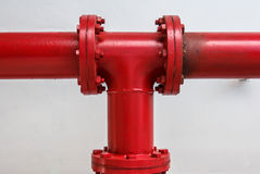 Joint per hydrant fire Stock Images