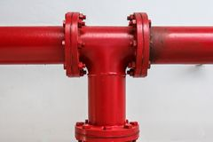 Joint per hydrant fire, background stock photo