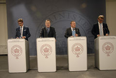 JOINT PRESS CONFERENCE _BEDRE BALANCE Stock Image