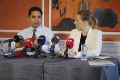 JOINT PRESS CONFERENCE BY TWO DANISH MINISTERS Stock Photography