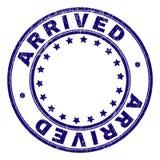 Joint rond ARRIVÉ texturisé rayé de timbre illustration de vecteur