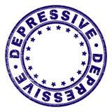 Joint rond DÉPRESSIF texturisé de timbre de grunge illustration libre de droits