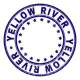 Joint rond texturisé rayé de timbre de la RIVIÈRE YELLOW illustration de vecteur