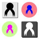 joint, sceau ou timbre de cire Icône plate de vecteur illustration libre de droits