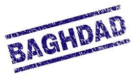 Joint texturisé grunge de timbre de BAGDAD illustration stock