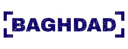Joint texturisé grunge de timbre de BAGDAD entre les coins illustration de vecteur