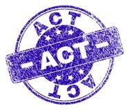 Joint texturisé grunge de timbre d'ACTE illustration de vecteur