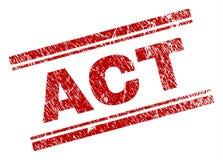 Joint texturisé grunge de timbre d'ACTE illustration stock
