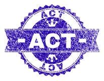 Joint texturisé grunge de timbre d'ACTE avec le ruban illustration de vecteur