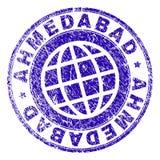 Joint texturisé grunge de timbre d'AHMEDABAD Illustration Libre de Droits