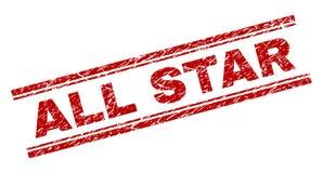 Joint texturisé grunge de timbre d'ALL STAR illustration stock