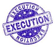 Joint texturisé grunge de timbre d'EXÉCUTION illustration libre de droits