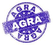 Joint texturisé grunge de timbre d'ÂGRÂ illustration libre de droits
