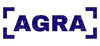 Joint texturisé grunge de timbre d'ÂGRÂ entre les coins illustration de vecteur