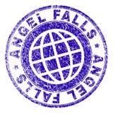Joint texturisé grunge de timbre des CHUTES DE SALTO ANGEL Illustration de Vecteur