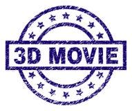 Joint texturisé grunge de timbre du FILM 3D illustration de vecteur