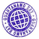 Joint texturisé grunge de timbre de GUANTANAMO BAY illustration libre de droits